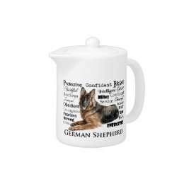 German Shepherd Traits Teapot