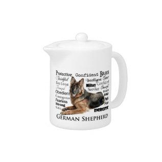 German Shepherd Traits Teapot at Zazzle