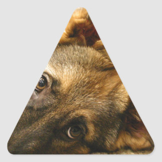 German Shepherd Triangle Sticker