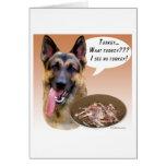 German Shepherd Turkey Greeting Card