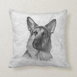 German Shepherd Two Throw Pillow