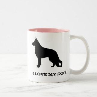 German Shepherd Two-Tone Coffee Mug