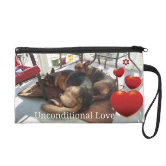 German Shepherd - Unconditional Love Wristlet