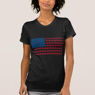 German Shepherd USA FLAG Tee Shirts