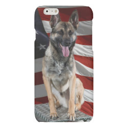 Case Savvy iPhone 6 Glossy Finish Case with German Shepherd Phone Cases design