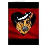 German Shepherd Valentine Cards