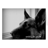 German Shepherd Valentine's Day Card