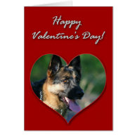 German Shepherd Valentines Day Card