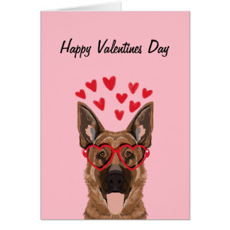German Shepherd Valentines Love Dog Card