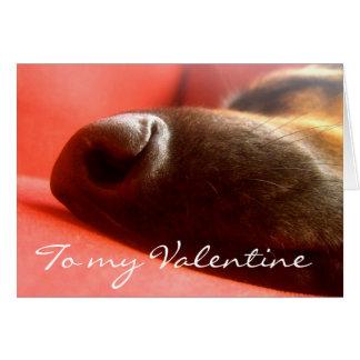 German Shepherd Valentine'sCard Card