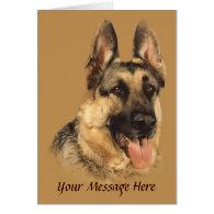 German Shepherd Very Handsome Greeting Card