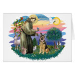 German Shepherd (W) Greeting Card