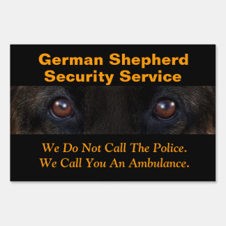 German Shepherd Warning Sign