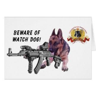 "German Shepherd ""Watch Dog"" Card"