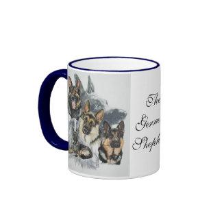 German Shepherd wGhost Ringer Coffee Mug