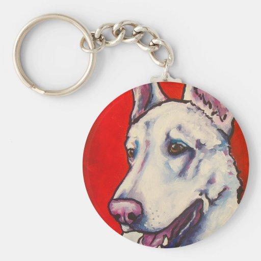 German Shepherd- White Key Chain