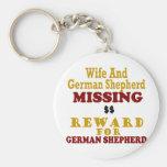 German Shepherd & Wife Missing Reward For German S Keychains