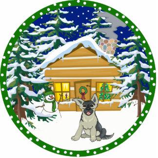 German Shepherd winter Cutout
