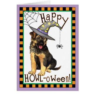 German Shepherd Witch Card