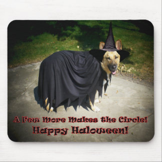 German Shepherd Witch Dog Mousepads