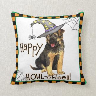 German Shepherd Witch Throw Pillow