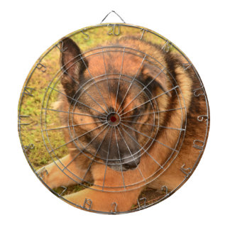 German Shepherd with One Floppy Ear Dartboard