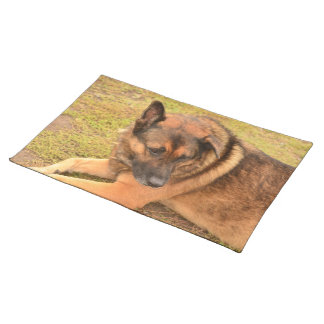 German Shepherd with One Floppy Ear Placemat
