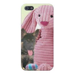 German Shepherd with Rabbit iPhone SE/5/5s Cover