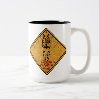 German Shepherd X-ing Two-Tone Coffee Mug