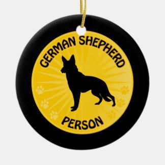 German Shepherd Xing Ceramic Ornament