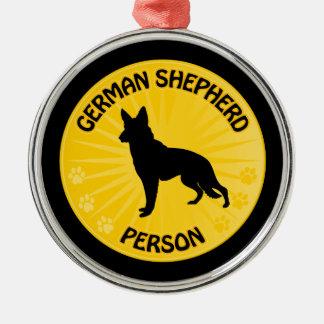 German Shepherd Xing Metal Ornament