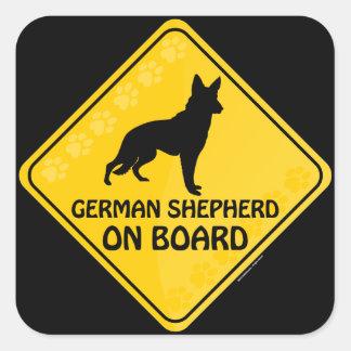 German Shepherd Xing Square Sticker