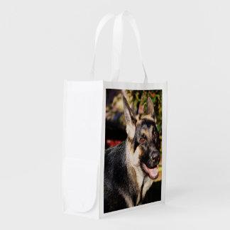 German Shepherd Reusable Grocery Bag