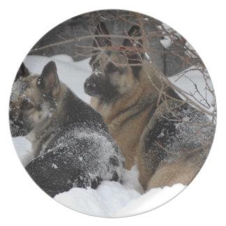 German Shepherds Best Friends Melamine Plate