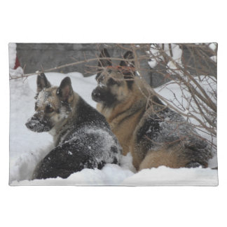 German Shepherds Best Friends Placemat