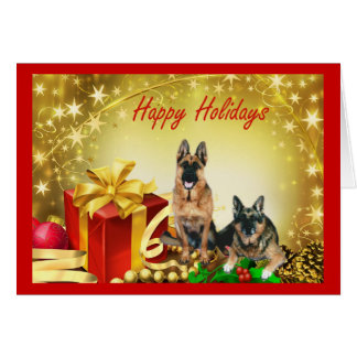 German Shepherds Christmas Card