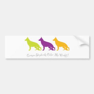 German Shepherds Color My World ! Bumper Sticker