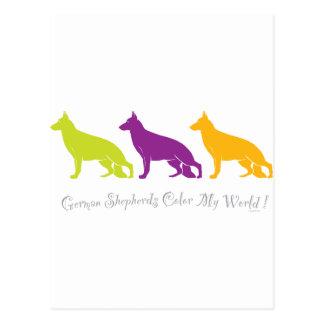 German Shepherds Color My World ! Postcard