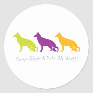 German Shepherds Color My World ! Stickers