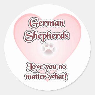 German Shepherds Love You No Matte... - Sticker