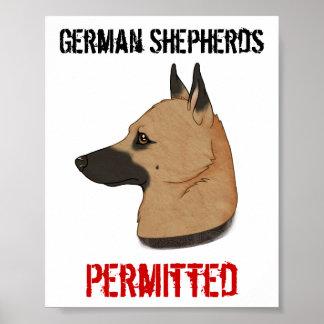 German Shepherds Permitted Print