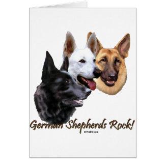 German Shepherds Rock Trio Card
