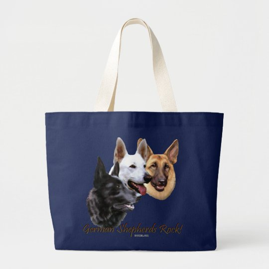 German Shepherds Rock Trio Large Tote Bag