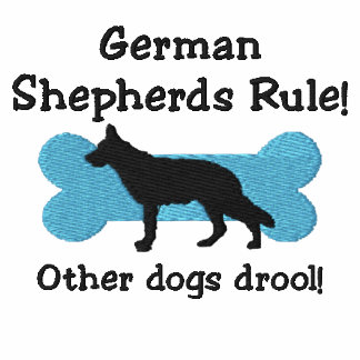 German Shepherds Rule Embroidered T-Shirt