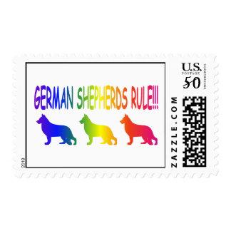 German Shepherds Rule Postage