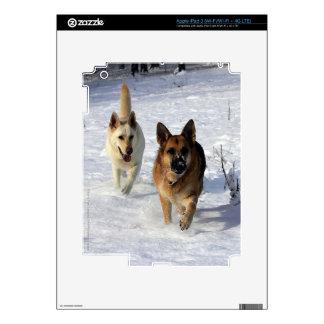 German Shepherds Running in the Snow iPad 3 Skins