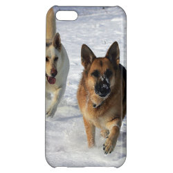 Case Savvy Matte Finish iPhone 5C Case with German Shepherd Phone Cases design