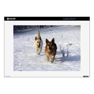 "German Shepherds Running in the Snow Skin For 15"" Laptop"