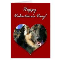 German Shepherds Valentines Day Card