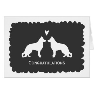 German Shepherds Wedding Congratulations Greeting Cards